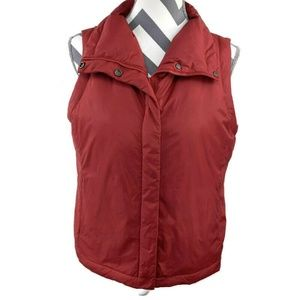 Eileen Fisher PS Red Puffer Vest Jacket